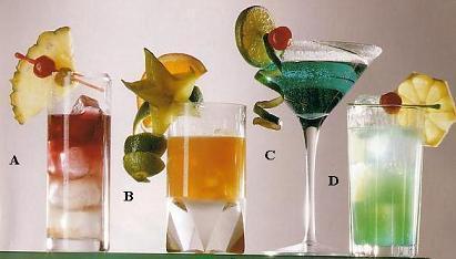A. 3. 2. 1. Различные идеи для украшения напитков.